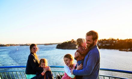 Auf hoher See mit der ganzen Familie.