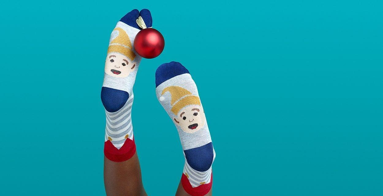 Gutes Tun mit einem Socken-Selfie